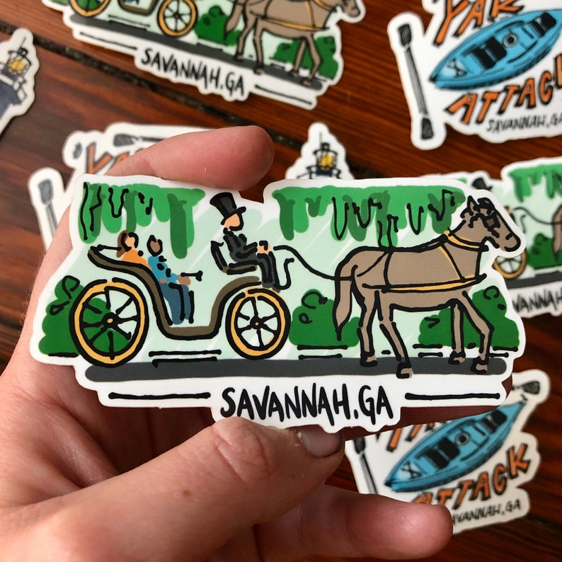 Savannah Carriage Sticker image 0