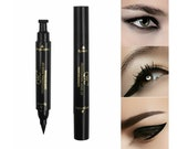 2in1 Winged Stamp Eyeliner Black Eyeliner Waterproof Makeup Cosmetic Eye Liner Pencil Liquid Women Black Eyeliner Pen Pencil