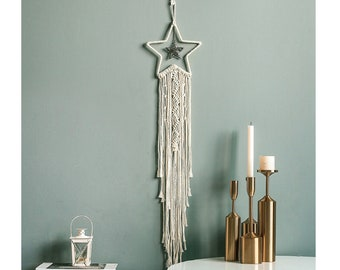 15 Style Moon Star Owl Macrame Dream Catcher Wall Hangings Unicon Decor Handmade