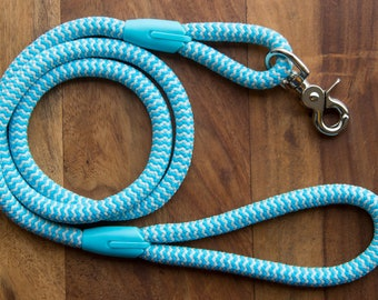 Light Blue & White dog leash for small and big dogs/chevron dog leash/dog leads/dog leash/