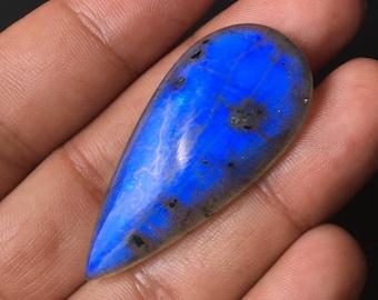 100/%Natural Gemstone Handmade Wholesale Gemstone Pear Shape Blue Flashy Labradotite Cabochon  Both Side Polish Size,31x23x6 MM Semi Precious