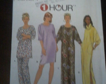 63f9c7fb62 Sewing Pattern Simplicity  7940 1 Hour Nightwear
