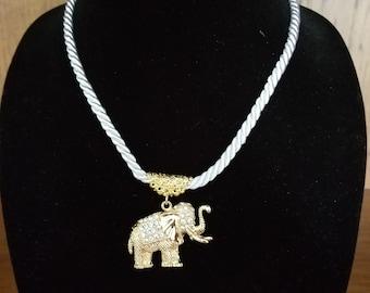 Elephant Necklace Goldtone