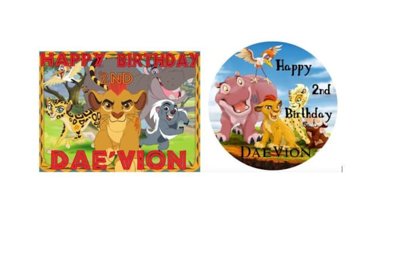 Lion Guard Edible Birthday Cake Image Topper 1//4 Sheet Icing Frosting