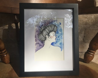 Watercolor Painting - Female Portrait