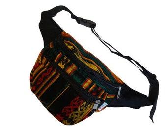 Belt bag bob striped red-yellow-green belly bag hip bag