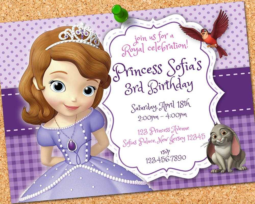 Sofia the First Invitation Sofia the First Birthday Princess | Etsy