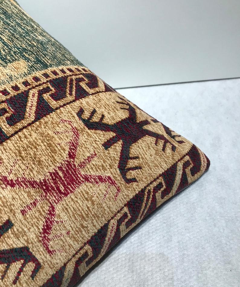 Modern Green  hemp pillow20x20turk\u0131sh kilim pillow,handmade handwoven pillow,throw accent pillow home decor docoraive bolster pillow 50x50cm