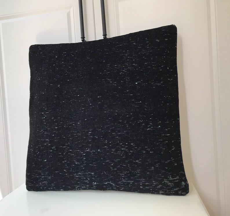 Black Carpet Pillow,Anatolian Pillow Vintage Pillow,Kilim Pillow Cover,Turk\u0131sh Coshion Cover,Rug Pillow Home Decor 20x20 inches 50x50cm