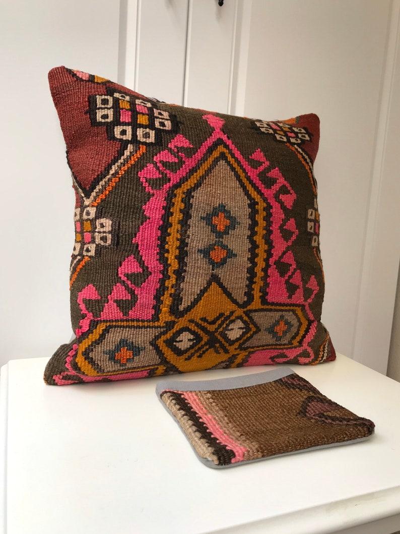 Turk\u0131sh,kilim,Coshion Cover,Size:16x16\u0131nches 40x40cm Kilim Pillow,Anatolian Fine Kilim Pillow,,Tribal Carpet,pillow,Pillow Cover