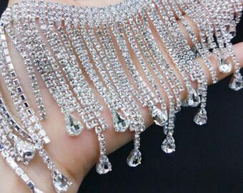 Applique con cristalli swarovski rivendell applique con braccio