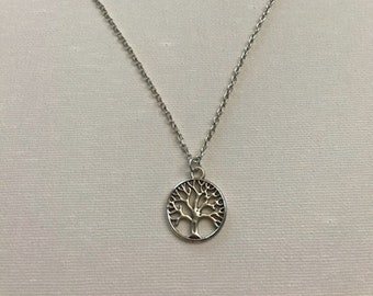 Tree of Life Necklace, Silver