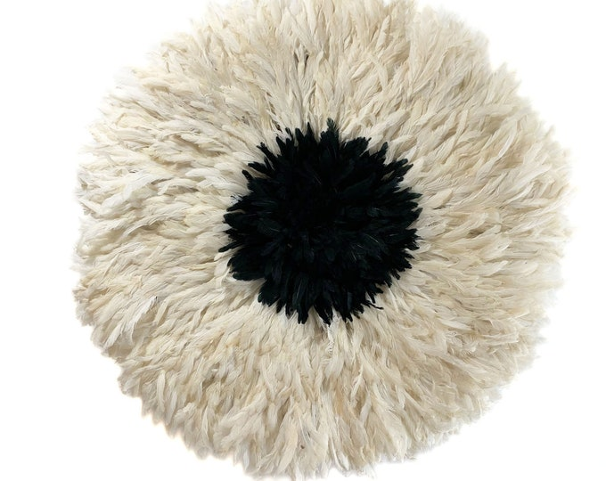 Juju Hat - Cream and Black Center