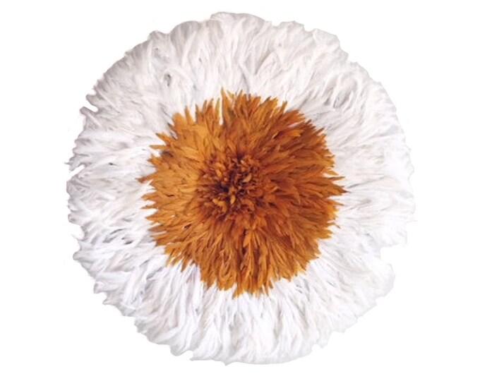 Large Juju Hat - Ivory + Orange