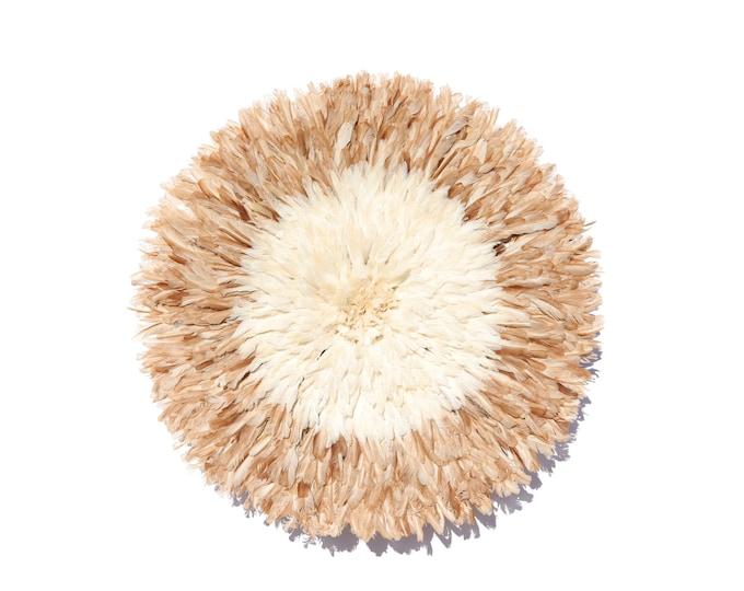 Juju Hat - White + Natural Tan