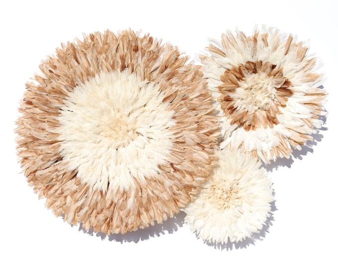 Juju Hat Collection - Set of 3 Natural Tan & Ivory