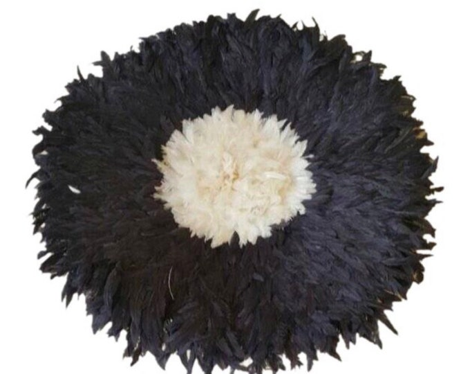 Juju Hat - Black with Cream Center