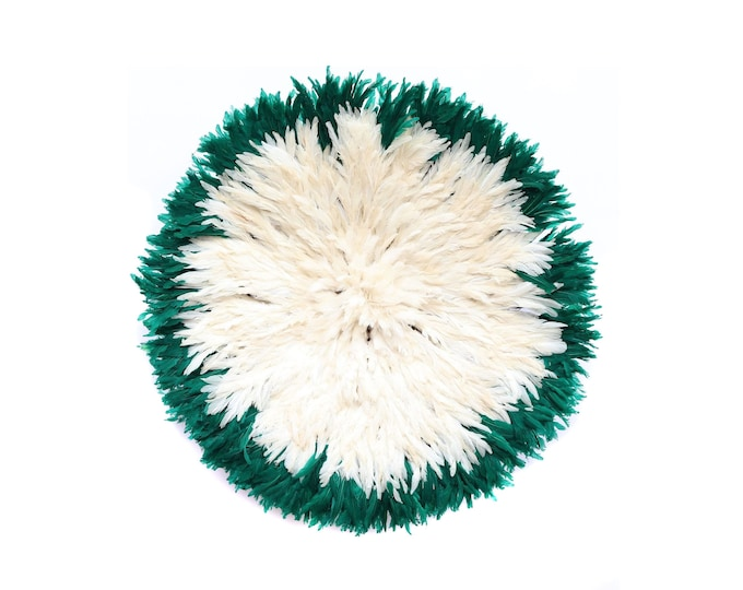 Juju Hat - White + Emerald Green