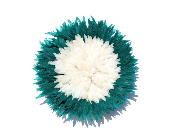 Juju Hat - White + Dark Green