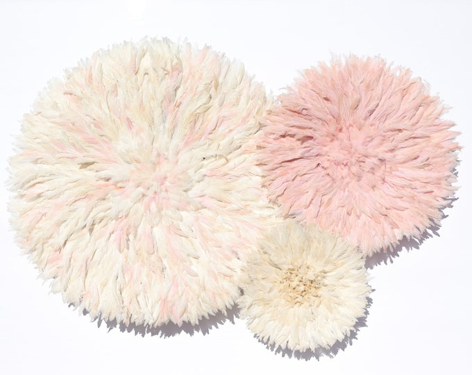 Juju Hat Collection - Blush Pink + Ivory Set of 3