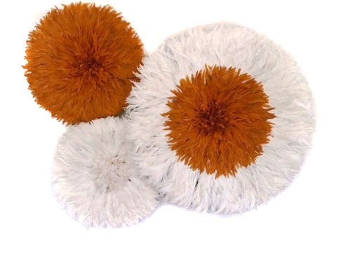 Juju Hat Collection - Ivory + Orange Set of 3