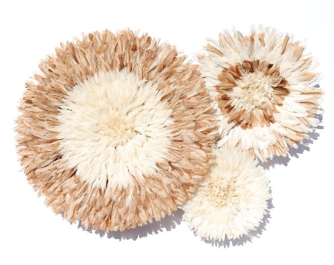 Juju Hat Collection - Set of 3 Natural Tan & Ivory