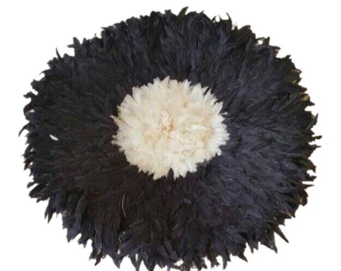 Juju Hat - Black with Cream Center