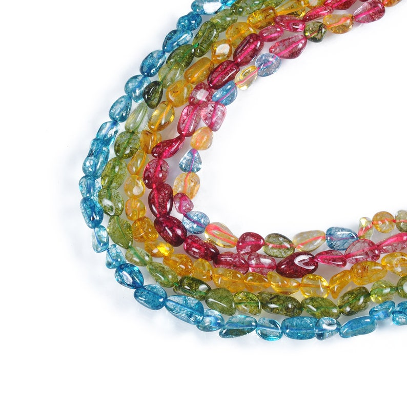 Crystal Irregular Beads.Color Choose Blue.Green.Yellow.Red.Mix color.Size 11~16x8~10mm.Jewelry Crystal Beads Wholesale.