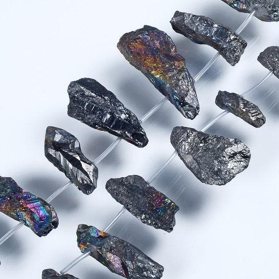 Natural Irregular Crystal Beads.Plating Multicolored Gemstone Beads.Matte Bright  Crystal Beads.Top Drilled Crystal.Popular Crystal Beads.