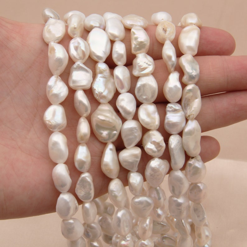 Freshwater Pearl Charms Irregular Beads,White Pearls Beads,Cultured Pearl Beads,Genuine Freshwater Pearls,Good Quality Wedding Pearls Beads.