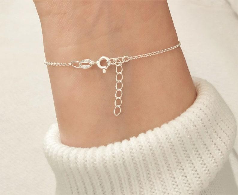 Baby /& Child Bracelet Love Hope Faith Personalised 925 Sterling Silver Bracelet Birthday Gift Communion Jewellery Newborn Bracelet
