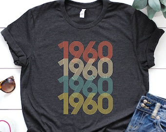 83cc7ca6 1960 shirt - 59th birthday shirt - gift for women - Vintage 1960 Shirt - 59th  birthday shirt - 59th Birthday - birthday shirt
