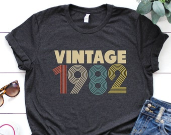 2cb1a06f94f54 1982 shirt - 37th birthday shirt - gift for women - Vintage 1982 Shirt -  37th birthday shirt - 37th Birthday - birthday shirt