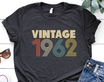 1962 shirt - 57th birthday shirt - gift for women - Vintage 1962 Shirt -  57th birthday shirt - 57th Birthday - birthday shirt ae1ad39db1957
