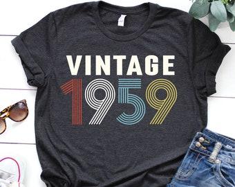 25862807 1959 shirt - 60th birthday shirt - gift for women - Vintage 1959 shirt - 60th  birthday shirt - 60th Birthday - birthday shirt