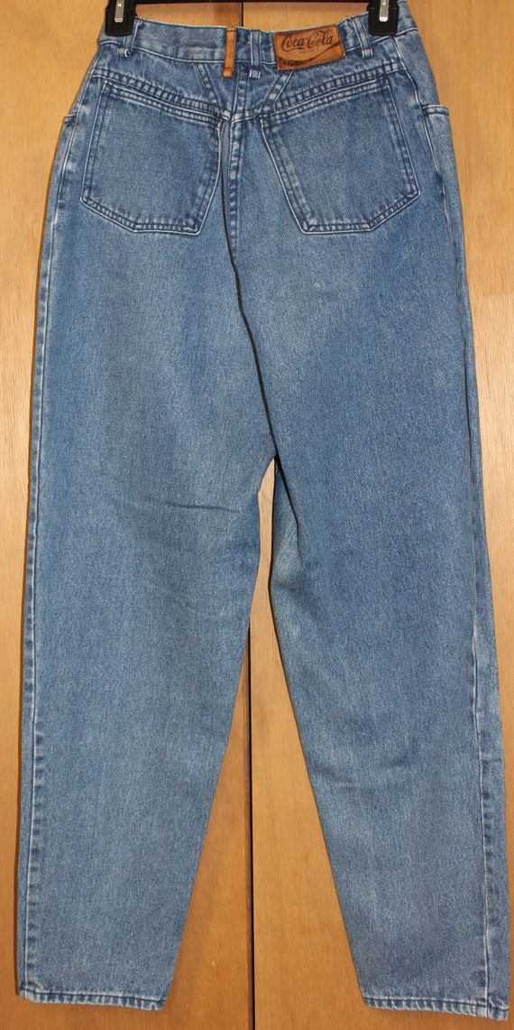 Vintage Coca Cola Jeans Pleated Front High Waist - image 4