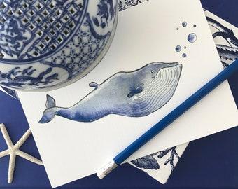 Card - Bubbles - Stephanie Susan Illustration HUBERT - Baleine
