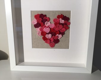 Crocheted heart picture