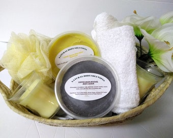 Body Scrub and Body Butter, Gift Sets, Basket, Mother's Day Gift Baskets