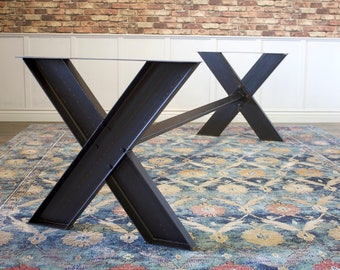 Welded Steel Metal X Base Trestle For Table Dining Kitchen Conference Or  Desk