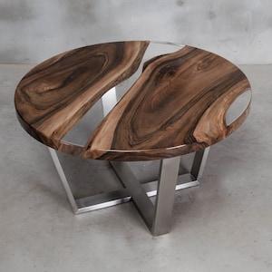 Personalisiert Live Edge Tisch aus Nussbaum Fluss Tisch mit