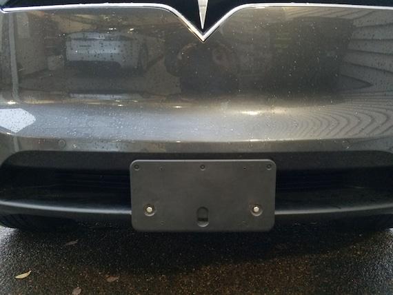 Tesla Model X PREMIUM NO HOLE license plate hardware stainless kit