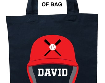 Baseball Trick or Treat Bag, Baseball Halloween Bag, Custom Baseball Tote Bag, Custom Baseball Bag, Baseball Bag, Personalized Baseball Bag