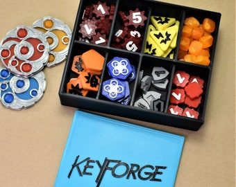 Keyforge Token Set with Box - Upgrade and Replacement for Keyforge Tokens