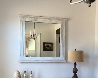 Chalk Painted Mirror