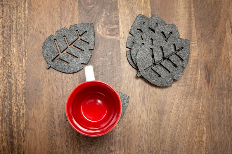 Leaf Coasters. Felt image 1