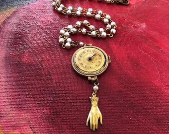 Vintage Watch Parts and Pearl Necklace