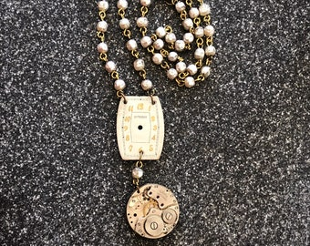 Vintage Watch Necklace - LaMarne