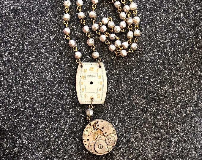 Vintage Watch Necklace - LaMarne