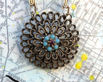 Vintage Pendant/Brooch Necklace